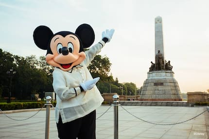 Mickey in Barong tours PH as part of his 90th birthday celebration