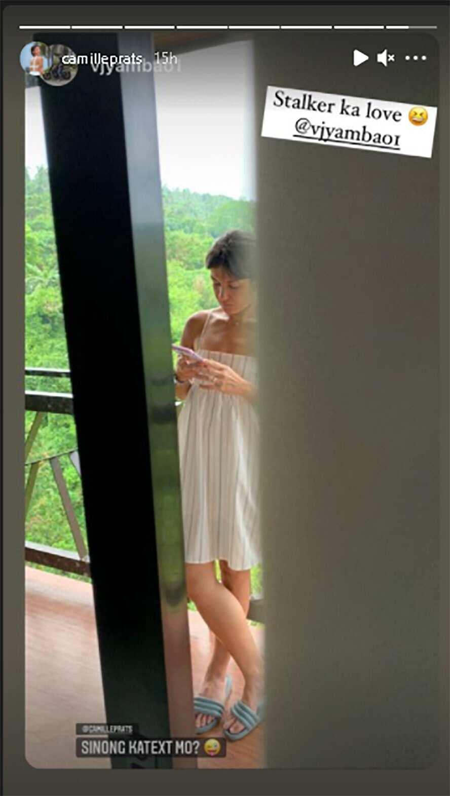 Camille Prats, ni-repost ang post ng asawa na nagtatanong kung sino ka-text ng aktres