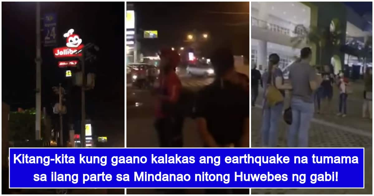 Actual footages of 7.1 magnitude earthquake in Davao surface
