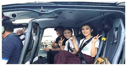 Yayamanin! Alex Gonzaga at Toni Gonzaga, nag helicopter papunta sa Quezon