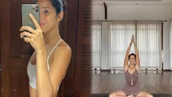 Maxene Magalona shows off slim and fit figure after returning to Manila