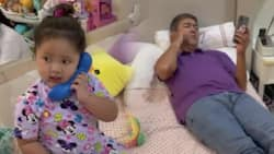 Video of baby Tali's cute 'phone call' with her dad Vic Sotto goes viral