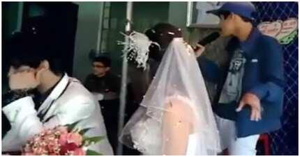 Groom, nabanas kay bride dahil si ex-BF ang kumanta sa kanilang kasal