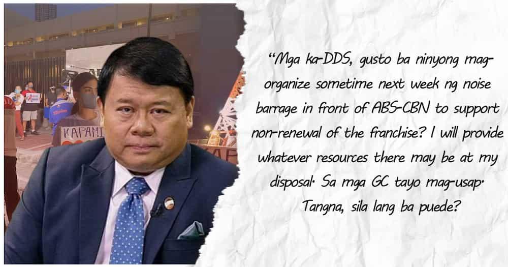 Ferdinand Topacio, nais mag-organisa ng isang noise barrage sa tapat ng ABS-CBN