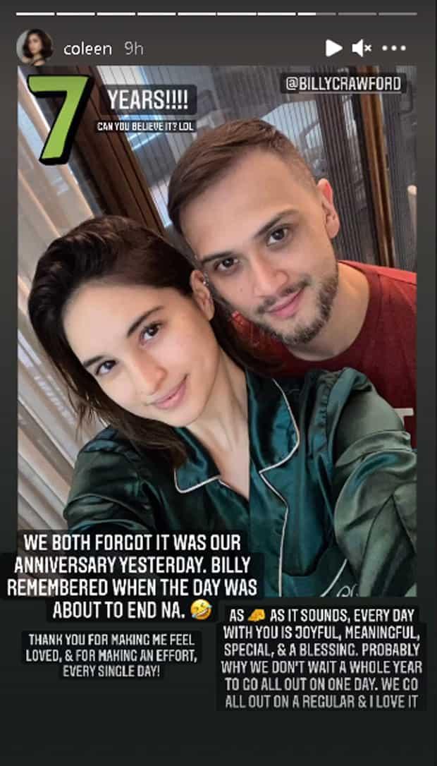 Coleen Garcia, Billy Crawford, nakalimutan ang 7th anniversary nila