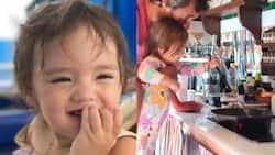 "Video of Baby Thylane preparing breakfast goes viral; Tili says ""Huevito"" repeatedly"