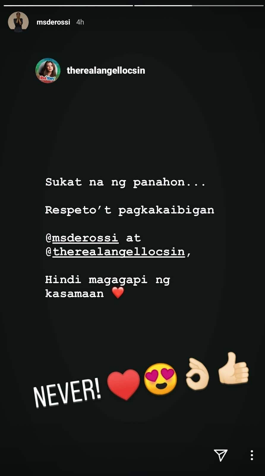Angel Locsin posts about Alessandra de Rossi's comments on ABS-CBN protest