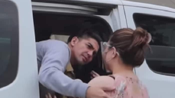 Mark Herras' wife Nicole Donesa gets emotional as the actor leaves for lock-in taping