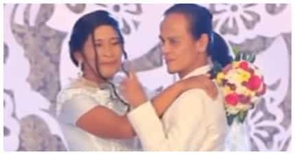 """Lalaking """"nanay"""" at babaeng """"tatay"""", kinasal na matapos ang 20 taon na pagsasama"""