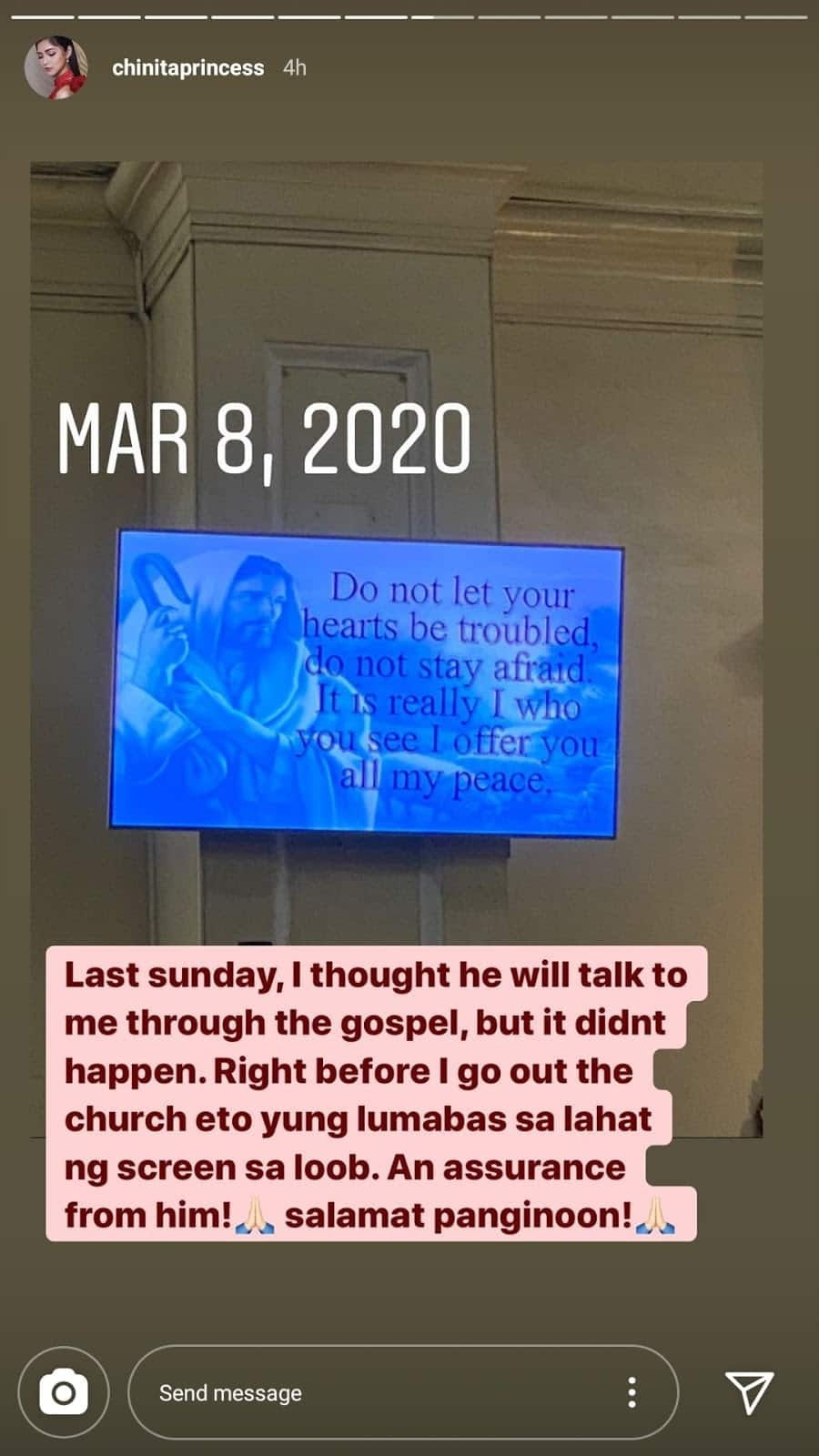 Kim Chiu's post about receiving a message from God during Mass goes viral