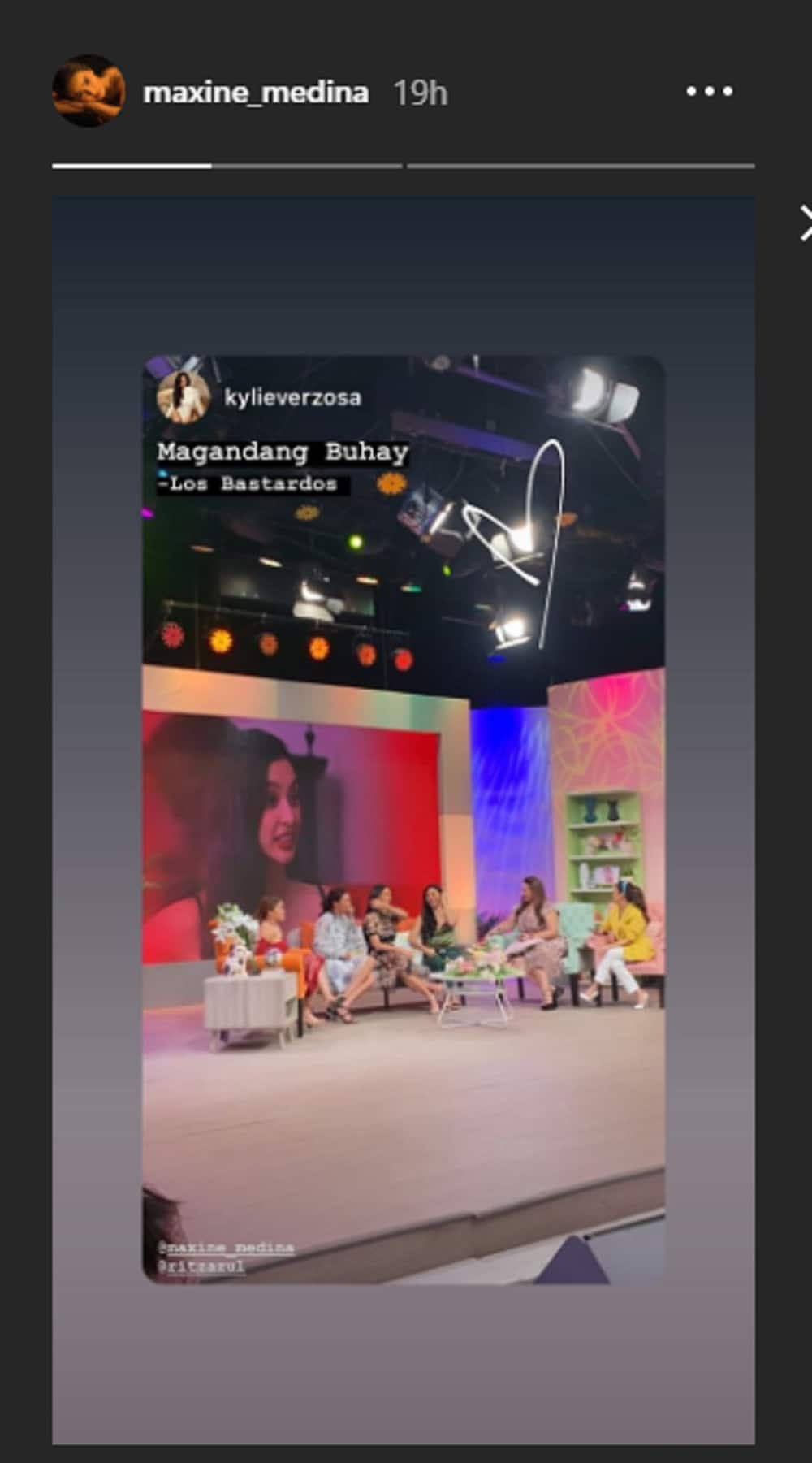Maxine Medina reposts Kylie Verzosa's social media post amid spitting issue