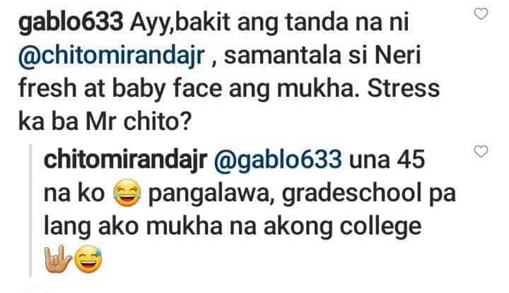 """Chito Miranda, sinagot ang nang-bash sa hitsura niya: """"una 45 na ko"""""""