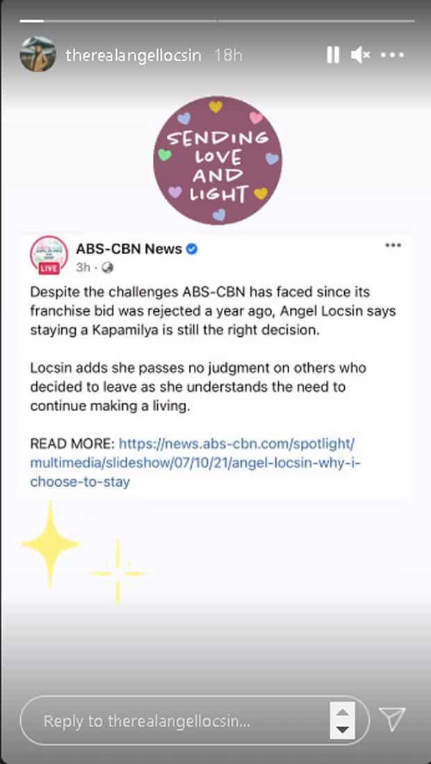 Angel Locsin, kinlaro na hindi niya jina-judge ang mga lumipat sa ibang network