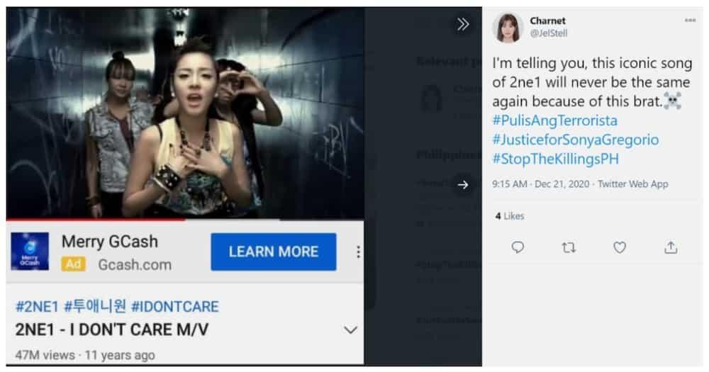 """""""I Don't Care"""" ng 2NE1, nag-trending dahil sa viral video ng pulis at mag-ina"""