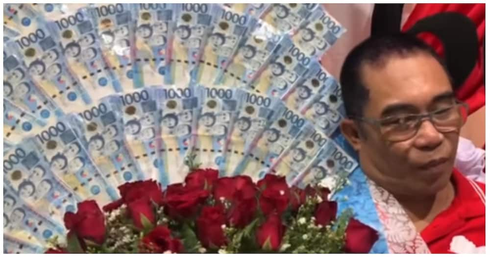 """Ama, pinadalhan ng anak ng """"bouquet of money"""" na may ₱60,000 para sa 60th birthday nito"""
