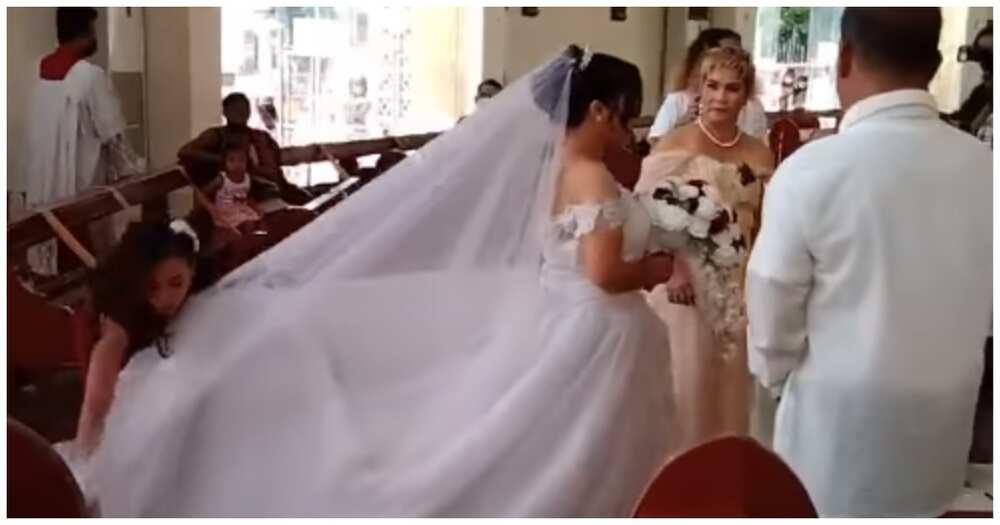 Video ng maid of honor na agaw eksena sa bridal march, kinagiliwan ng netizens