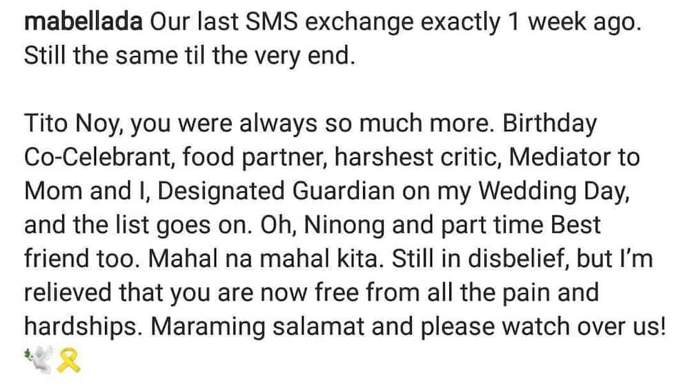 Pamangkin ni PNoy, ibinahagi ang huling palitan nila ng text message ng tiyuhin