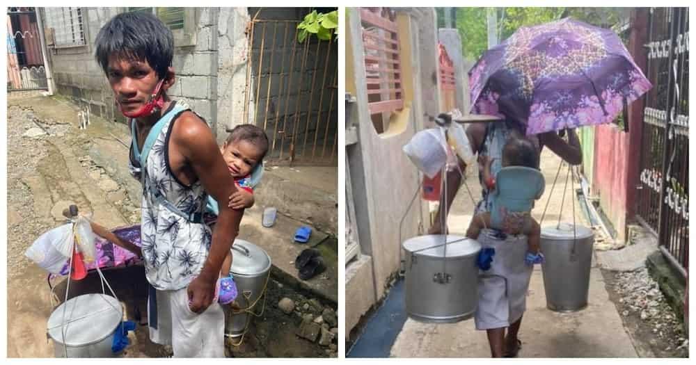 Taho vendor na pasan ang isang taong gulang na anak habang naglalako, dinagsa ng tulong