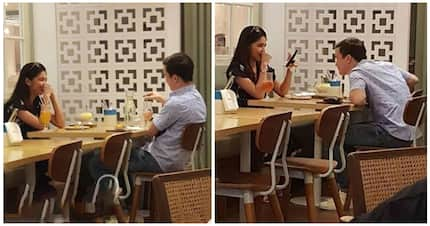 Maine Mendoza at Arjo Atayde allegedly spotted kissing by a netizen