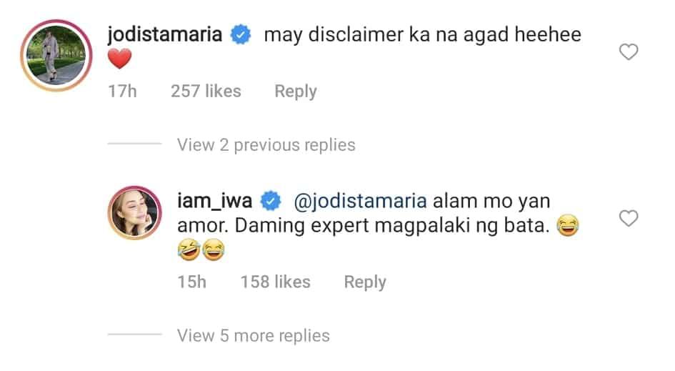"""Iwa Moto, nag-post ng """"disclaimer"""" sa photo ng kanyang mga anak; Jodi Sta. Maria, nag-react"""
