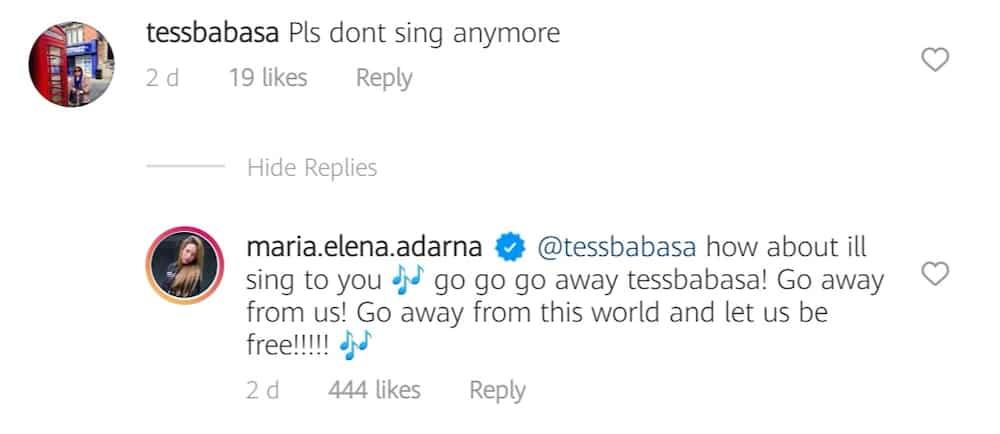 Ellen Adarna shuts down basher instructing her not to sing anymore