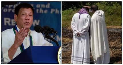 President Duterte says a priest died because of AIDS in Davao
