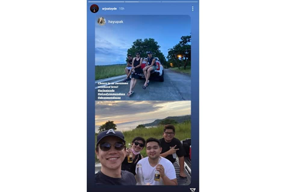 Photos of Arjo Atayde's awesome bonding with Maine Mendoza's brothers go viral