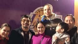Legend supports legend! Manny Pacquiao meets with Stephen Curry after Warriors-Lakers game