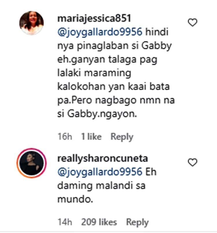 """Sharon Cuneta calls out """"malandi"""" as cause behind separation with Gabby Concepcion"""