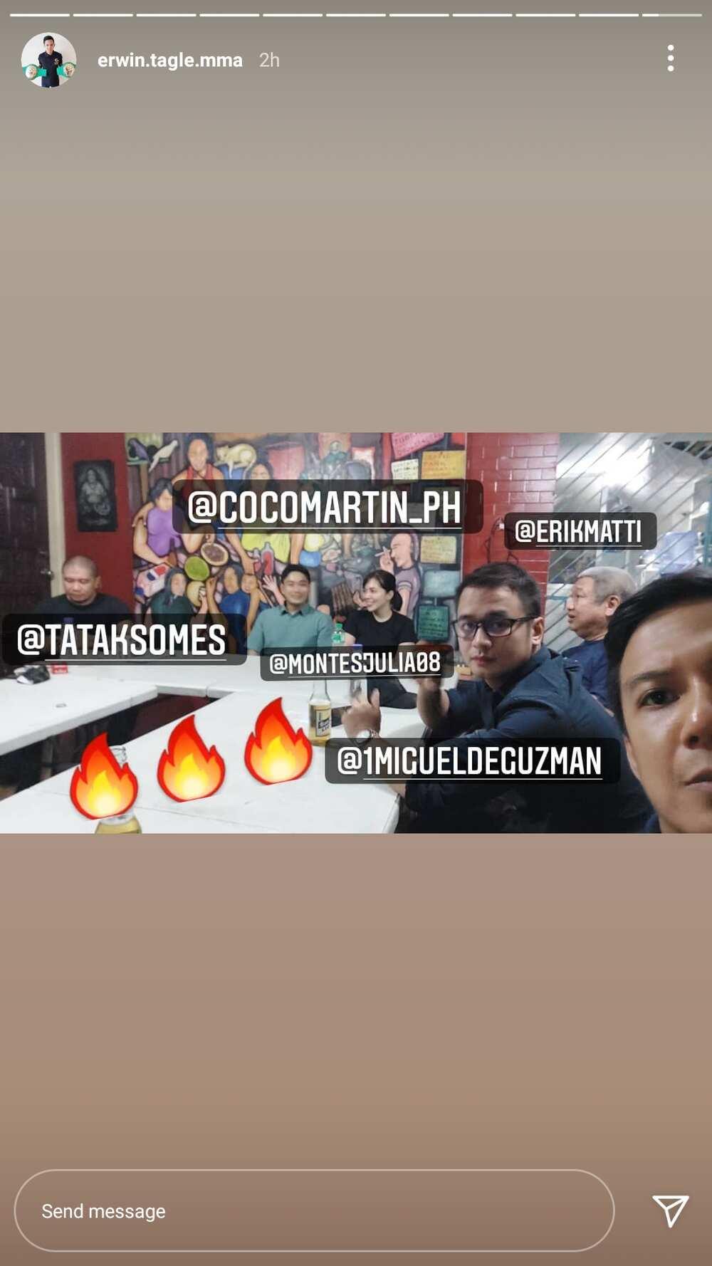 Meeting nina Coco Martin at Julia Montes kina JM de Guzman at Direk Erik Matti, nagpa-excite sa mga netizens