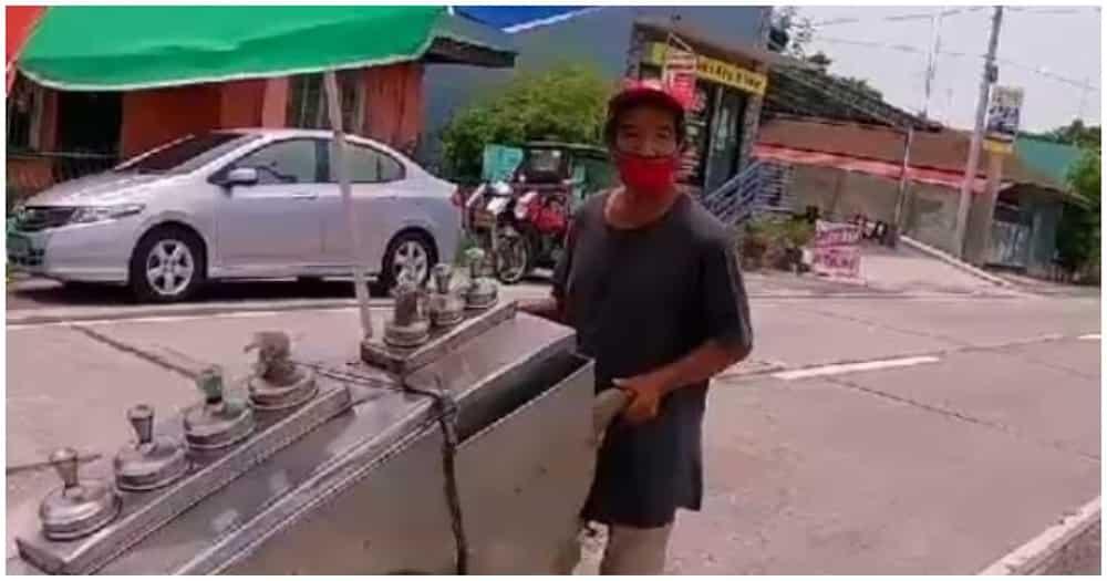 """Mabait na ice cream vendor, hindi nagdamot sa """"pagod"""" na rider"""
