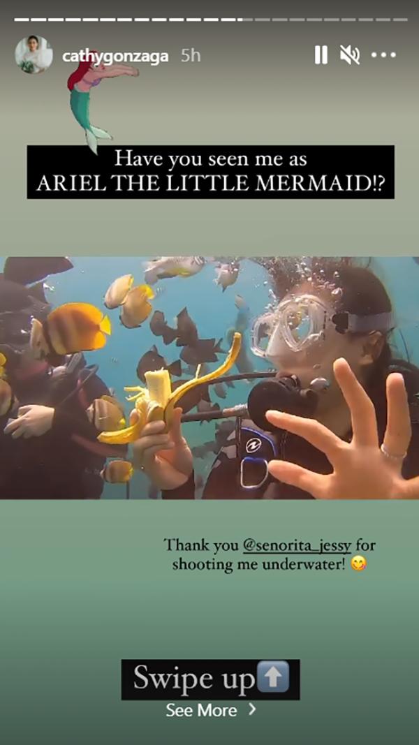 Alex Gonzaga thanks Jessy Mendiola for shooting her underwater video