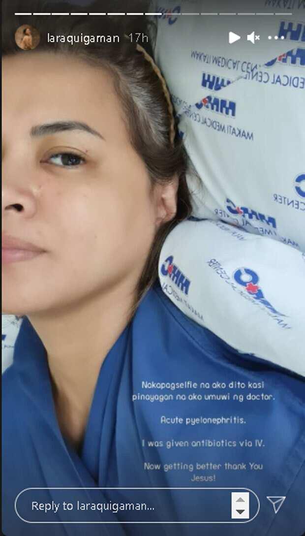 Lara Quigaman, isinugod sa ospital dahil sa impeksyon sa bato