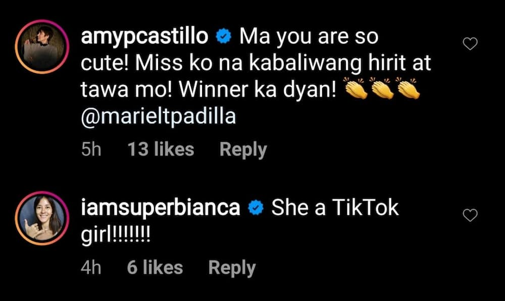 Celebrities react to Mariel Padilla's latest video on social media