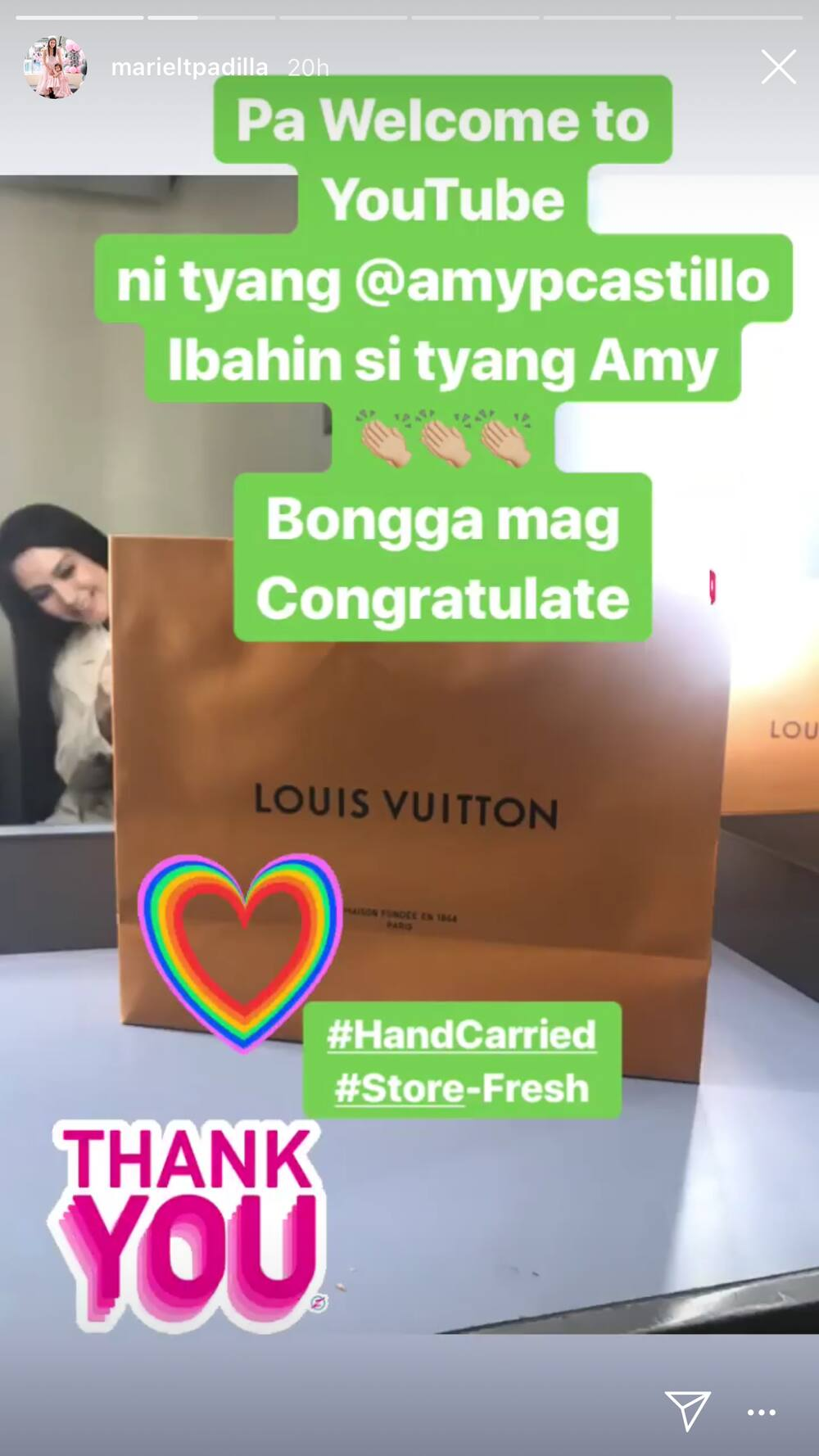 Mariel Padilla receives an expensive gift from Amy Perez