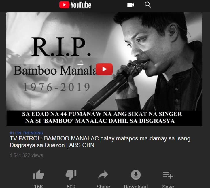 Fact check: Did Bamboo Mañalac die in a 'car crash' in Quezon?