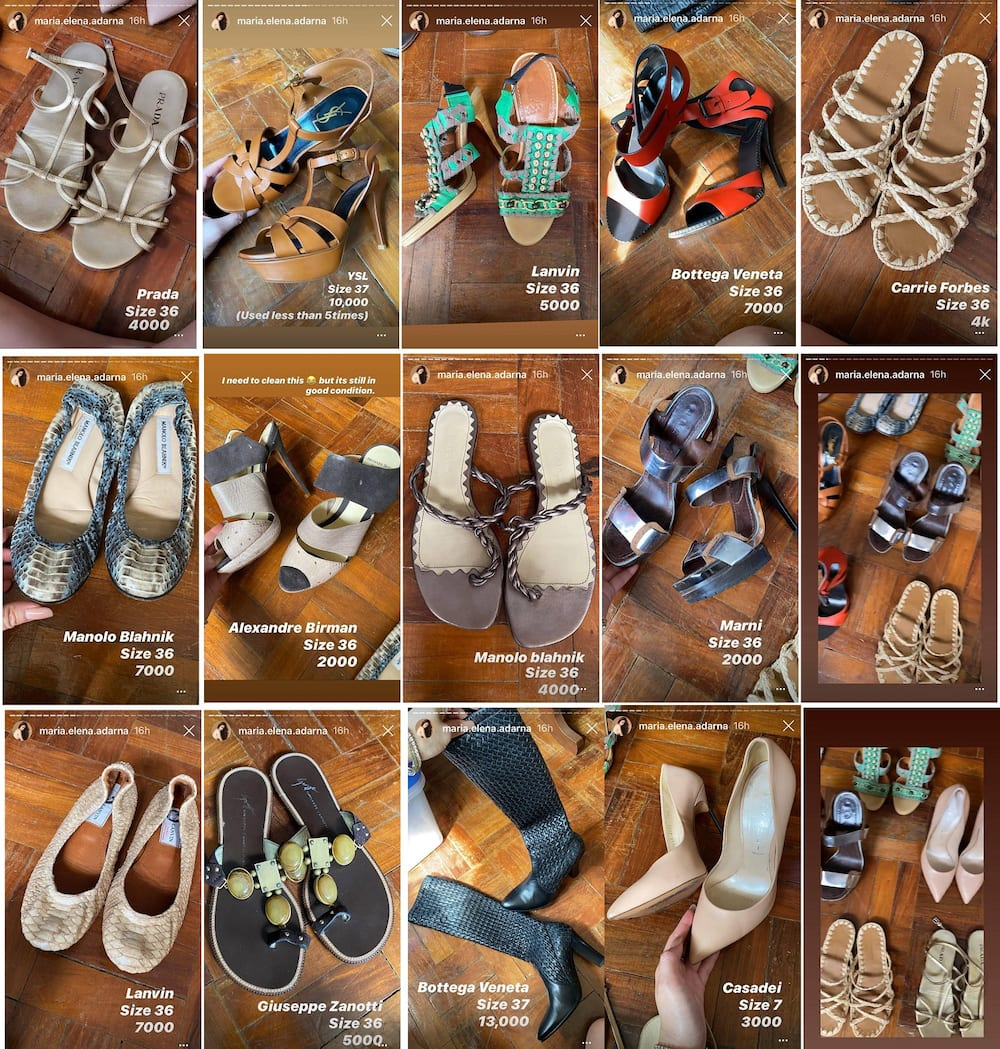 Ellen Adarna is now selling some of her luxurious pre-loved footwear