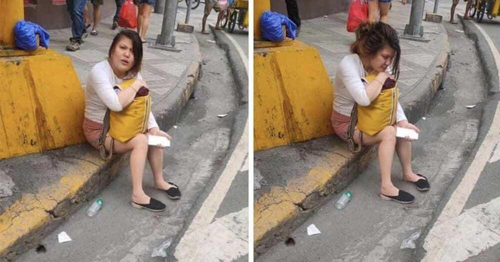 Babae sa sidewalk na nag-viral, nilinaw na wala siyang karamdaman