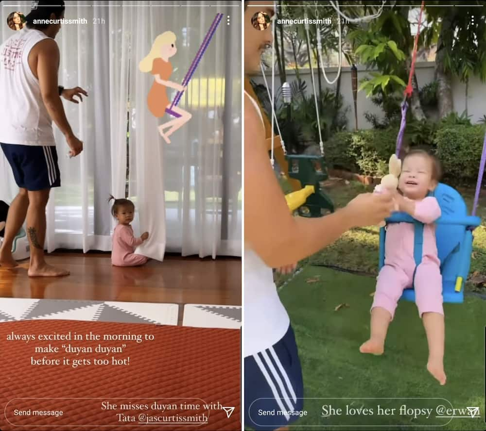 """Anne Curtis shares video of baby Dahlia's fun """"duyan time"""" with Erwan Heussaff"""