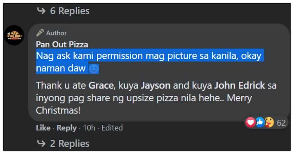 Dalawang batang kumain ng pizza matapos mamasko, umantig sa puso ng mga netizens