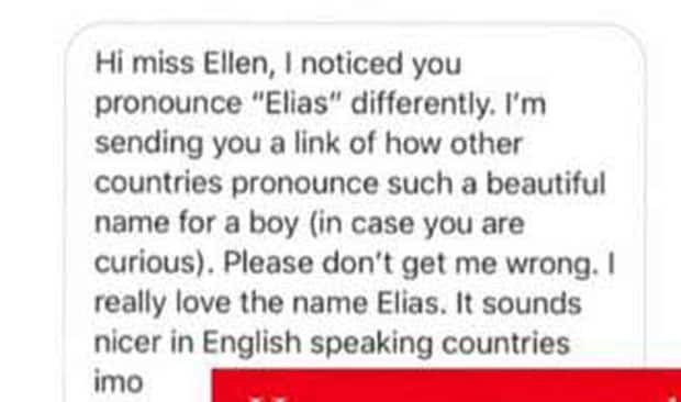 Ellen Adarna receives unsolicited advice from netizen on how to pronounce her son's name