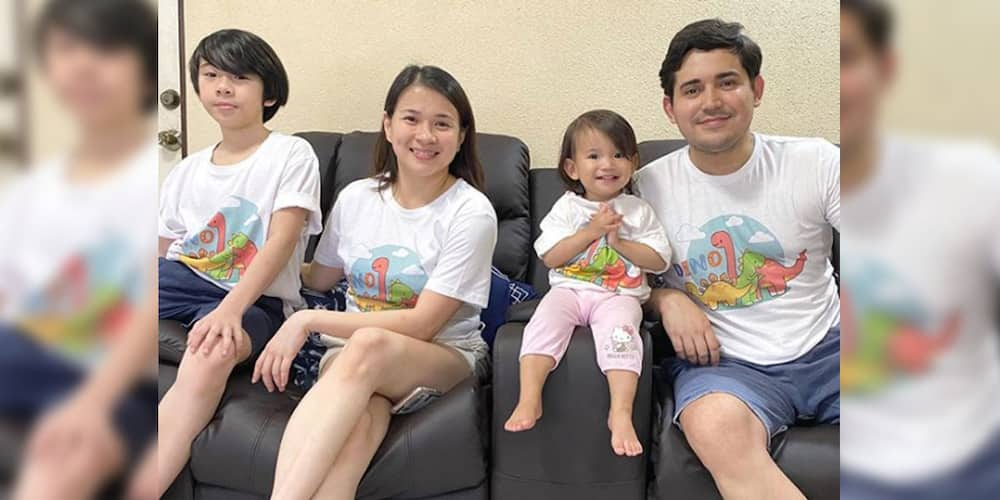 Paolo Contis' caption on his photo with Aki and Summer while watching NBA game goes viral