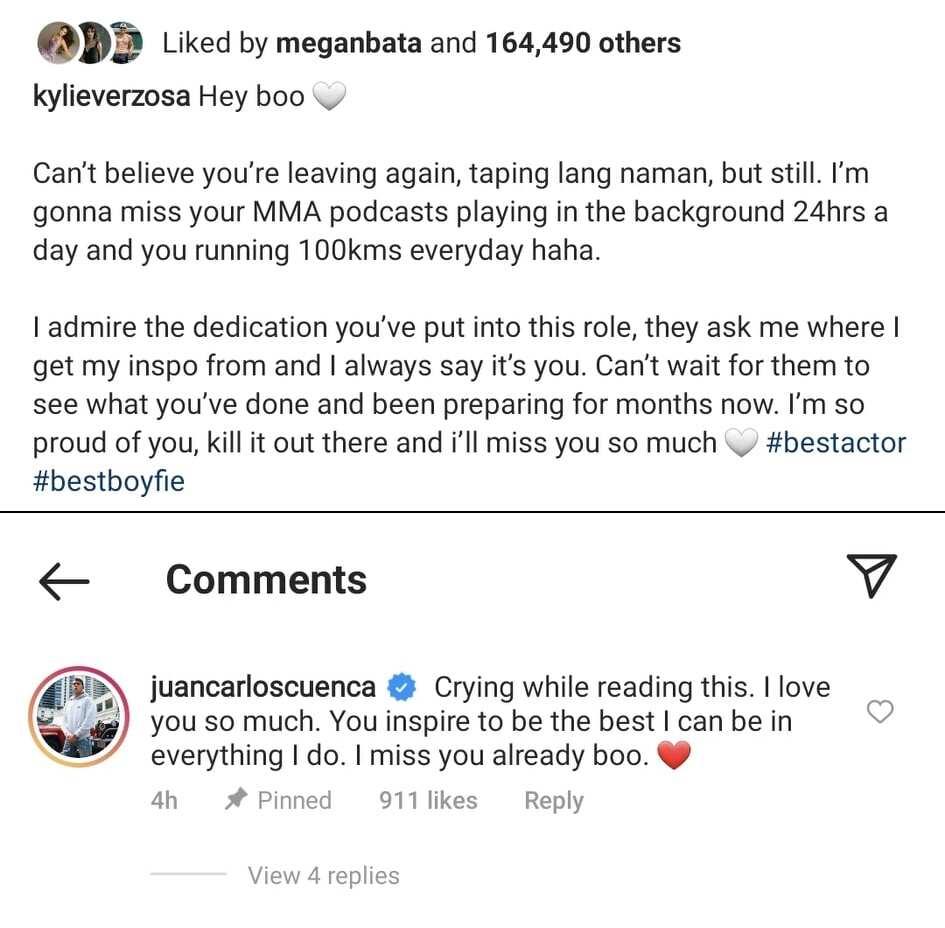 Jake Cuenca, naiyak nang mabasa ang mensahe ni Kylie Verzosa para sa kanya