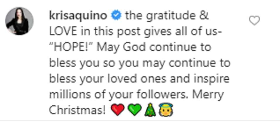 Kris Aquino reacts to Liza Soberano's heartfelt post about her new house