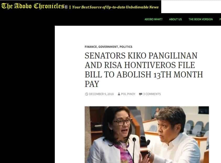 Fact check: Did Senators Hontiveros and Pangilinan file a bill to suspend '13th month' bonuses?