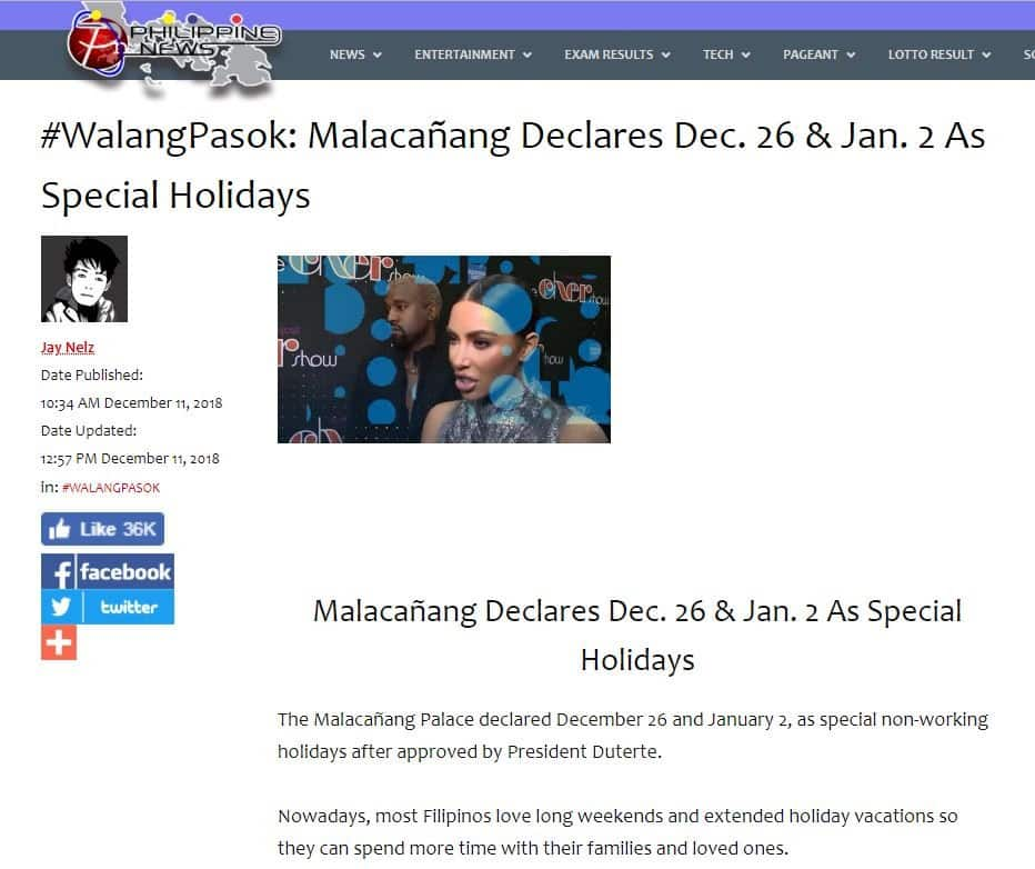 Fact check: Is it holiday on December 26 and January 2?