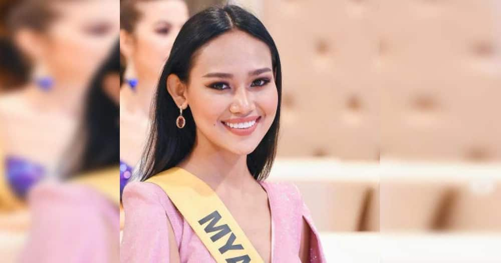 Ms. Myanmar in Miss Grand International 2020 swimwear experiences wardrobe malfunction