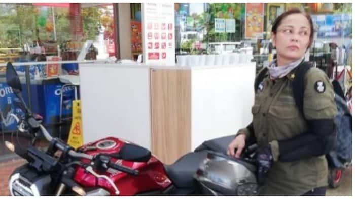 Eula Valdes, binigyang pugay ang mga delivery riders nang maranansang magmotorsiklo