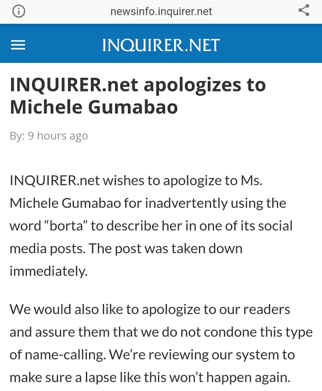 Online newspaper, humingi ng dispensa kay MUP 2nd runner-up Michele Gumabao