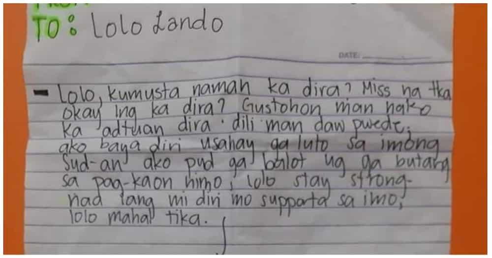 Liham ng apo para sa lolo niyang nasa kulungan, nagpaluha sa netizens ngayong Father's Day
